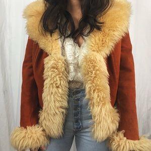VINTAGE/ 1970s penny lane coat